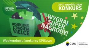 Powszechny Spis Rolny - plakat Weekendowy konkurs SPISowy