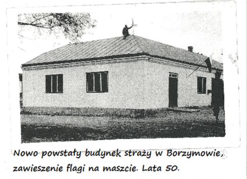 Nowo powstały budynek OSP  w Borzymowie.