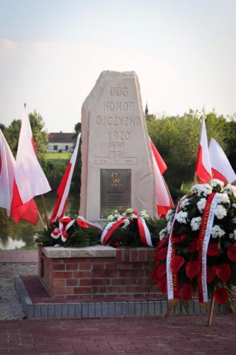 Odsłonięcie i poświęcenie pomnika upamiętniającego generała Józefa Hallera