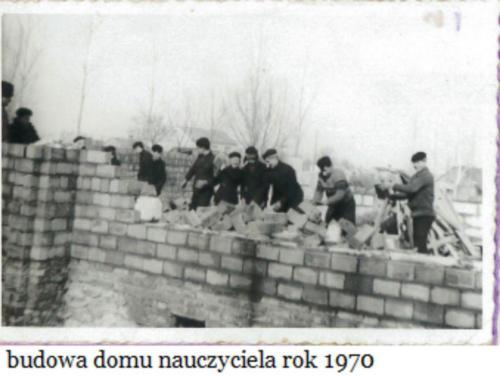 Budowa Domu Nauczyciela w Oleśnicy. .