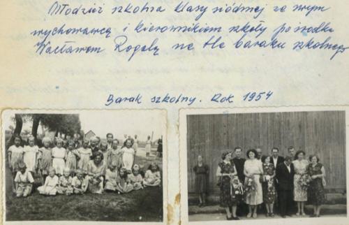 nauka w barakach rok 1953 . 2