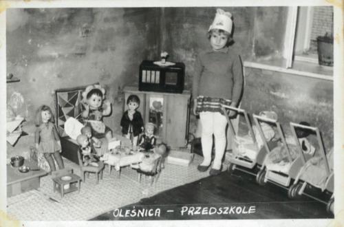 Sala przedszkolna kącik zabaw. '60 XX w.