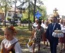 Starościna dożynek C.Ziętarska i starosta T. Kawa